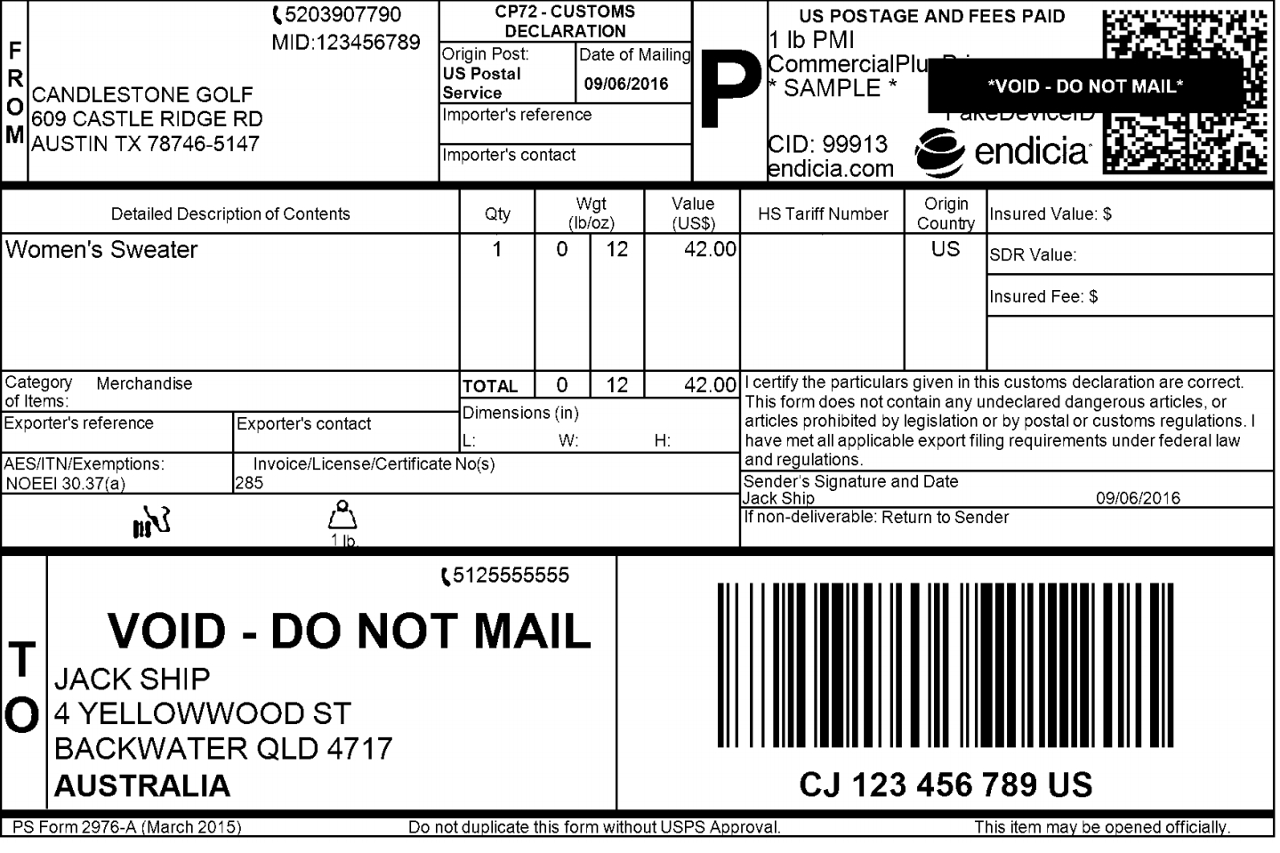 Tips To Make Sure Your International Shipping Label Format Is Perfect Regarding Package Mailing Label Template