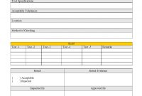 Tool Inspection Report with regard to Part Inspection Report Template