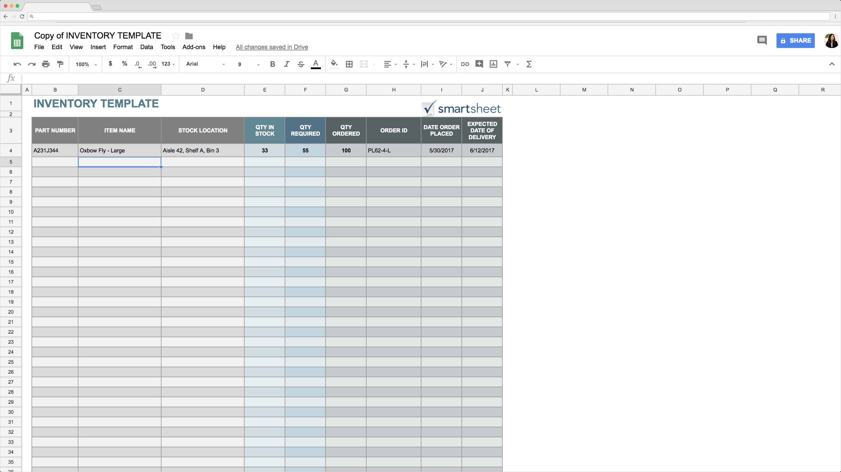 Top  Free Google Sheets Inventory Templates  Blog Sheetgo Throughout Business Process Inventory Template