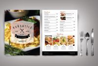 Top  Free  Lowcost Restaurant Menu Templates for Menu Template Indesign Free