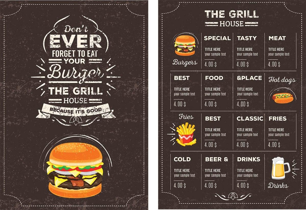 Top  Free Restaurant Menu Psd Templates  Mockups   Colorlib Inside Menu Board Design Templates Free