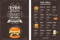 Top  Free Restaurant Menu Psd Templates  Mockups   Colorlib regarding Takeaway Menu Template Free