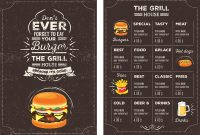 Top  Free Restaurant Menu Psd Templates  Mockups   Colorlib throughout Food Truck Menu Template