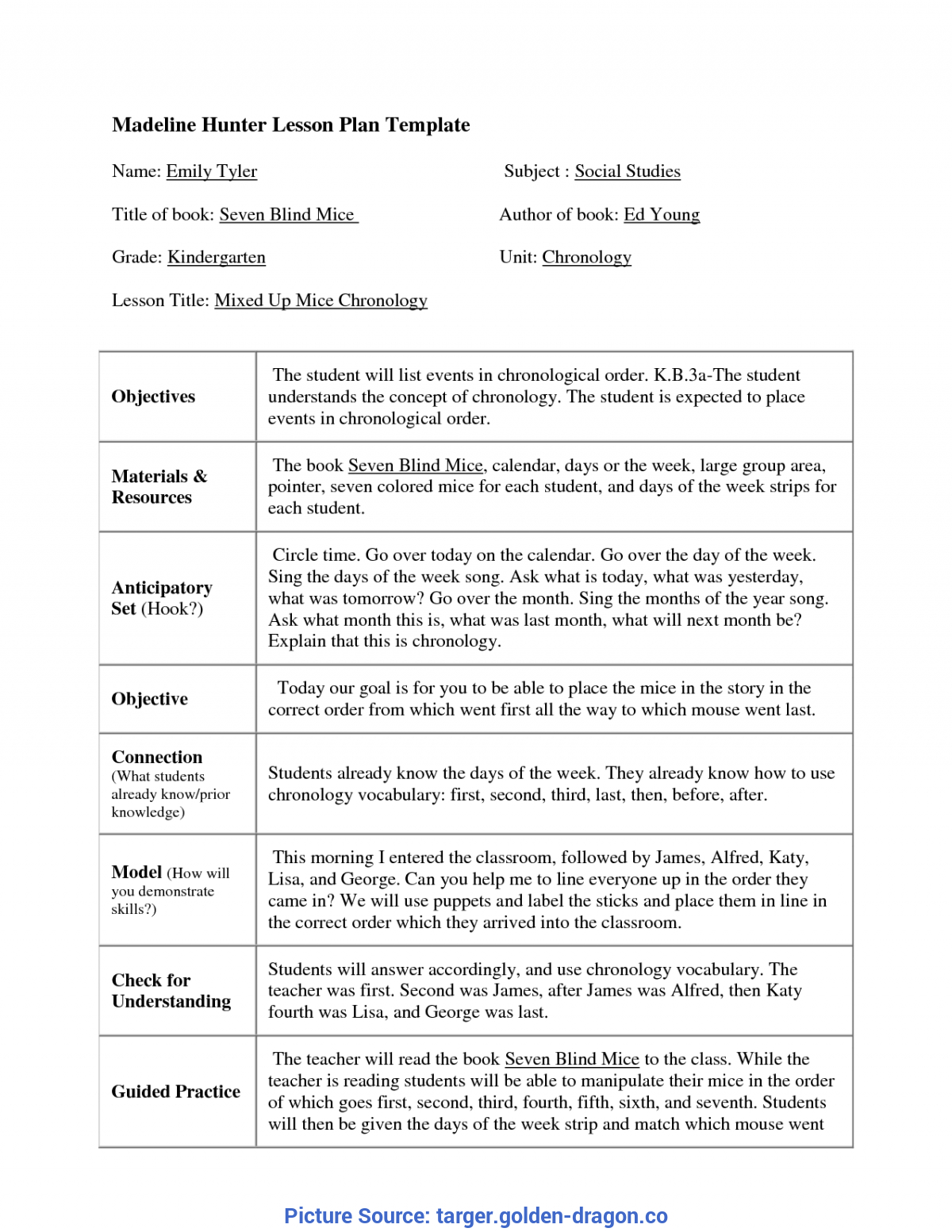 Top Madeline Hunter Lesson Plan Kindergarten Madeline Hunter Lesson In Madeline Hunter Lesson Plan Blank Template