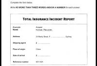 Total Insurance Incident Report Ielts Listening Test   Youtube regarding Insurance Incident Report Template