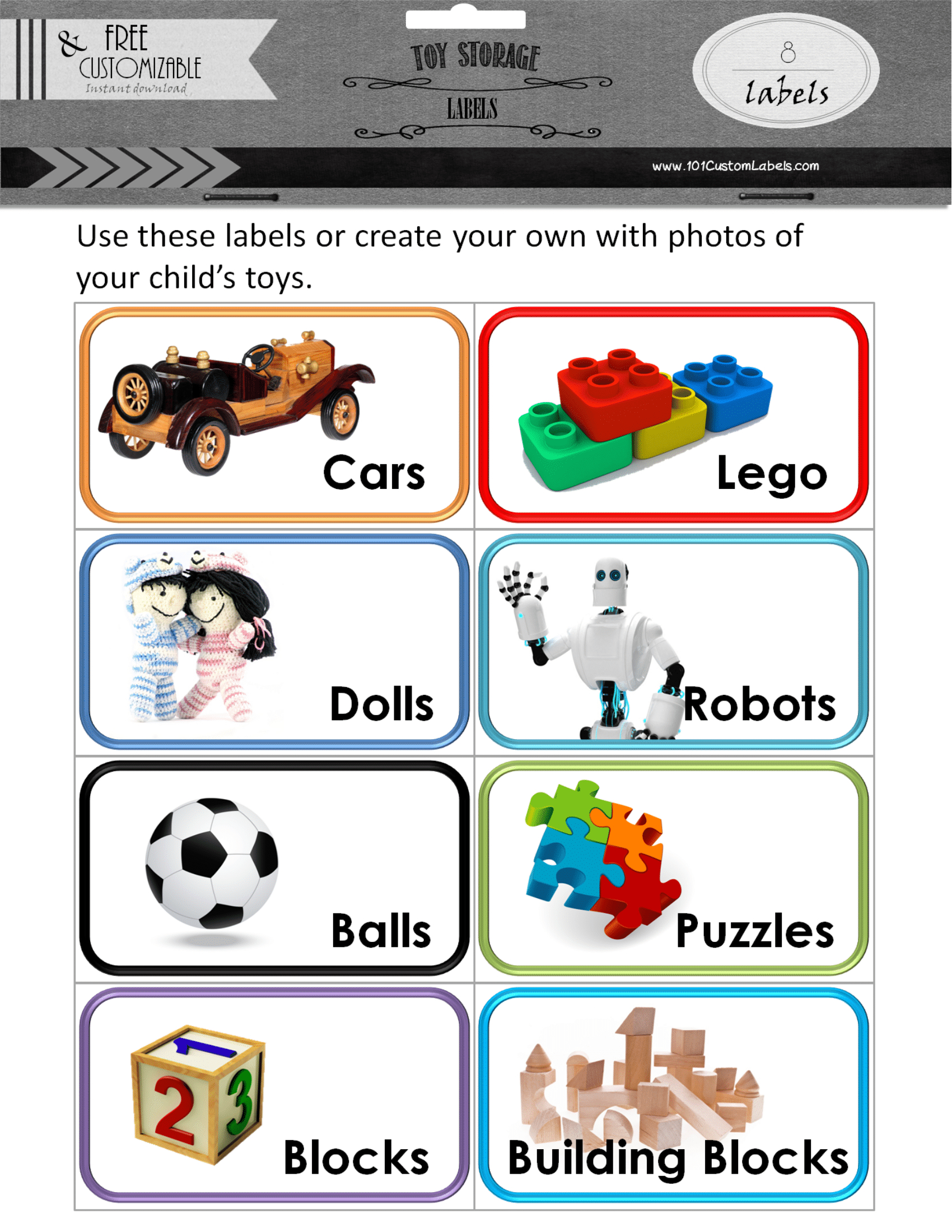 Toy Bin Labels  Create Toy Labels With Photos And Print At Home Regarding Bin Labels Template