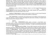 Trademark License Agreement Templates Agreementtemplates Trademark inside Photography License Agreement Template