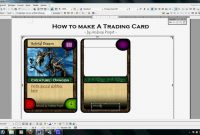 Trading Card Template Word  Template Business within Baseball Card Template Word