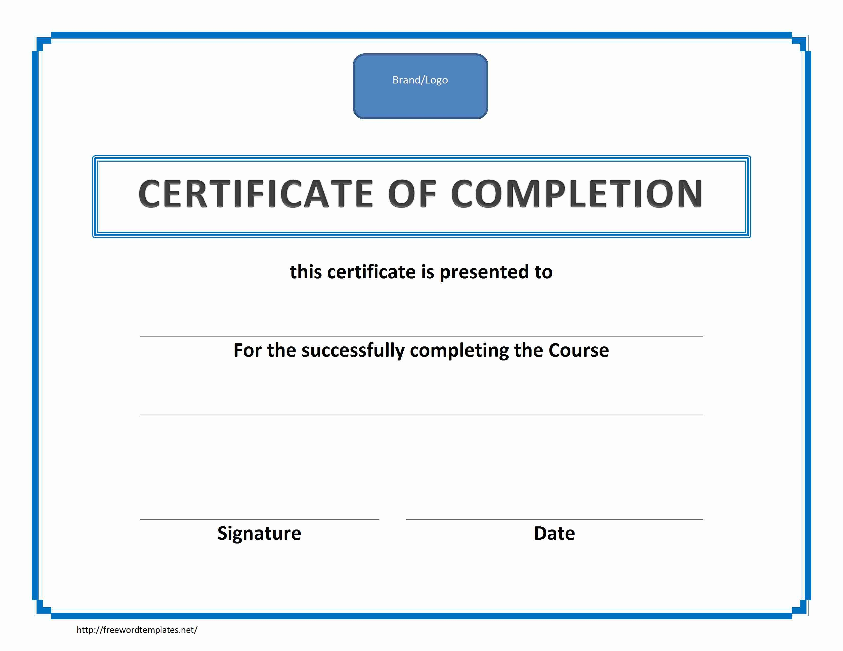 Training Certificate Template Word Free Download In Superlative Certificate Template