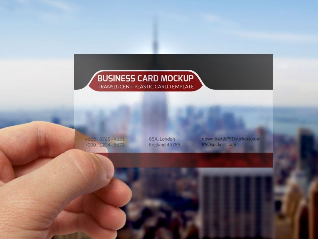 Transparent Business Card Mockup Template Psd On Behance Inside Transparent Business Cards Template