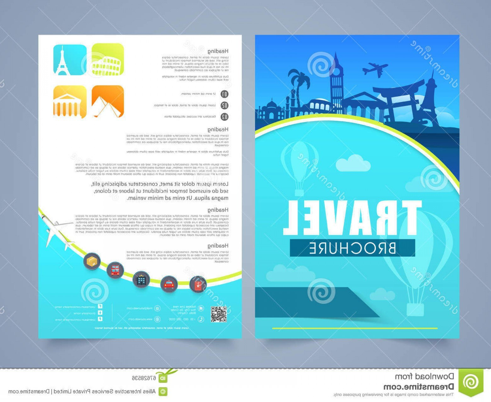Travel And Tourism Brochure Templates Free  Soidergi For Travel And Tourism Brochure Templates Free