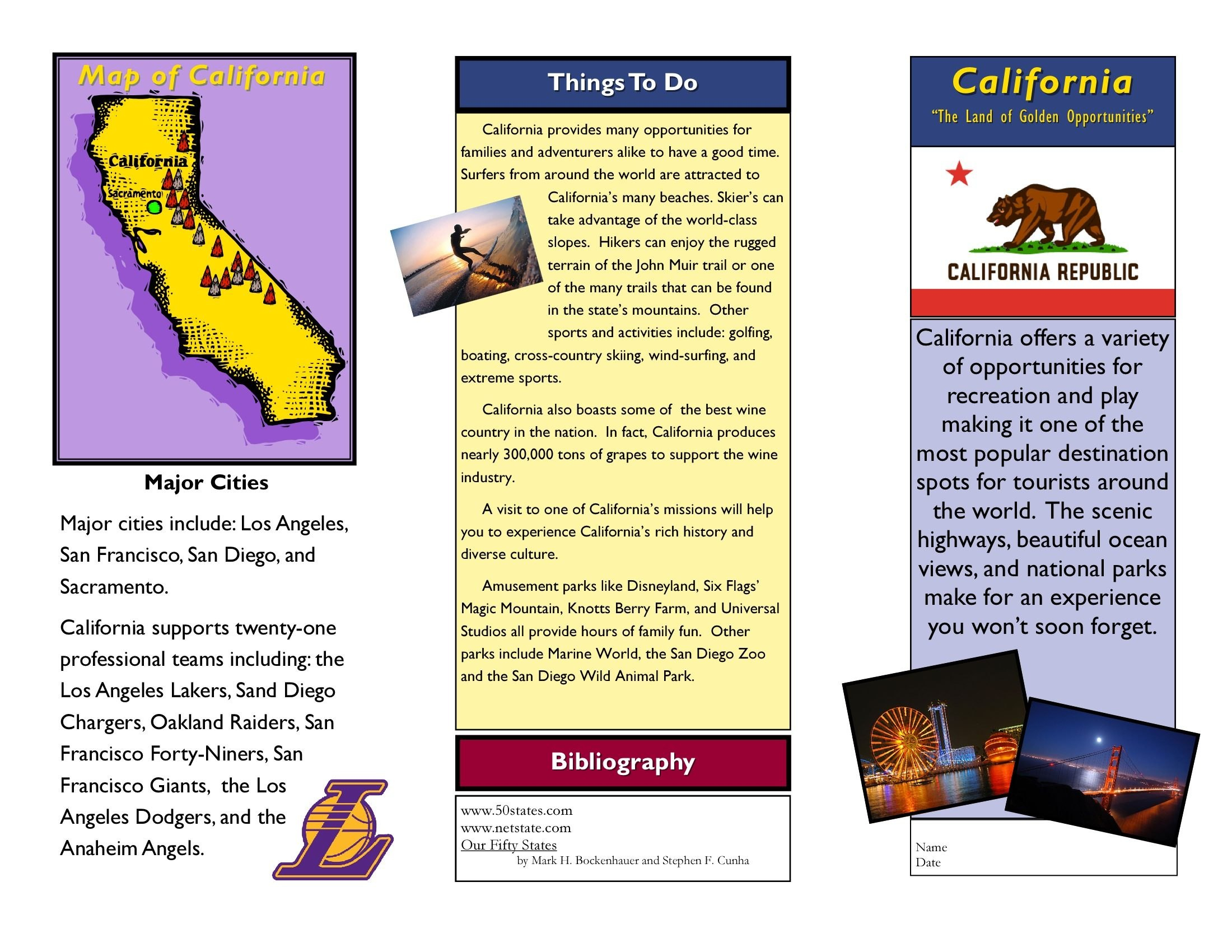 Travel Brochure Examples For Students  Theveliger With Regard To Travel Brochure Template For Students
