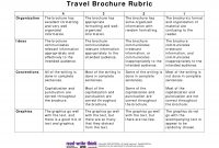 Travel Brochure Rubric Pdf Picture  Teaching  Travel Brochure for Brochure Rubric Template