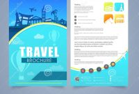 Travel Brochure Template Or Flyer Design Stock Illustration with Travel And Tourism Brochure Templates Free