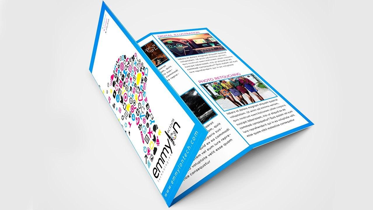 Tri Fold Brochure Design Layout  Adobe Illustrator Speedart In Adobe Illustrator Tri Fold Brochure Template