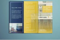 Tri Fold Brochure  Free Indesign Template inside Adobe Tri Fold Brochure Template