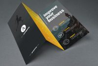 Tri Fold Brochure Template Psd  Graphicfy for Brochure 3 Fold Template Psd