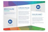 Tri Fold Brochure Vector Template  Download Free Vector Art Stock intended for Brochure Folding Templates