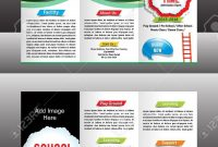 Tri Fold School Brochure Template Vector Illustration Royalty Free within Tri Fold School Brochure Template