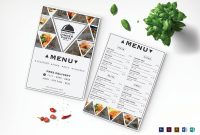 Triangle Dinner Menu Design Template In Psd Word Publisher for Menu Templates For Publisher