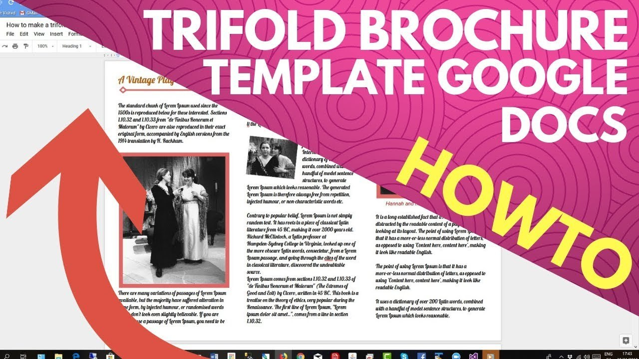 Trifold Brochure Template Google Docs  Youtube Intended For Tri Fold Brochure Template Google Docs