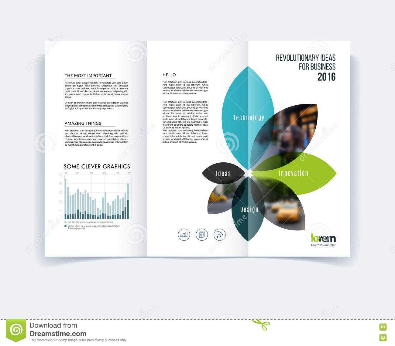 Trifold Brochure Template Layout Cover Design Flyer In A Wit For Engineering Brochure Templates Free Download