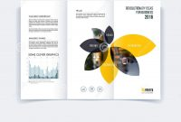Trifold Brochure Template Layout Cover Design Flyer In A Wit intended for Engineering Brochure Templates