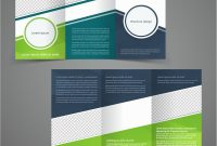 Trifold Business Brochure Template Twosided Vector Image intended for Double Sided Tri Fold Brochure Template