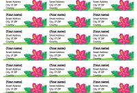 Tropical Labels  Per Page within Free Template For Labels 30 Per Sheet