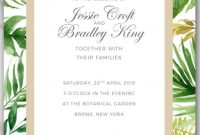 Tropical Palm Tree Leaves Wedding Invitation Template In   Free with Hawaiian Menu Template
