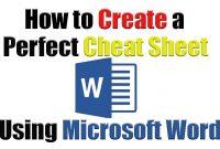 Tutorial  How To Create The Perfect Cheat Sheet Using Microsoft throughout Cheat Sheet Template Word