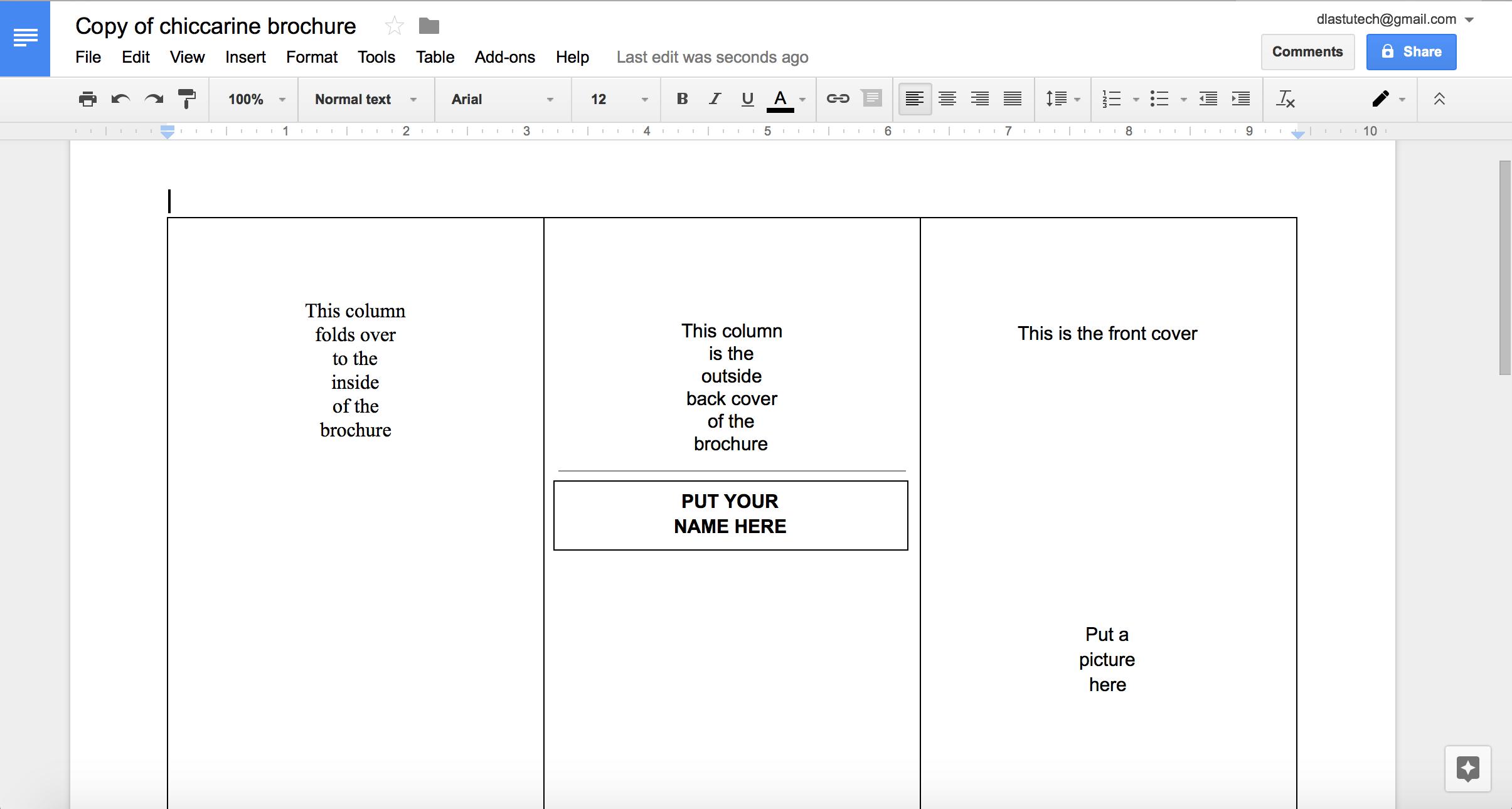 Tutorial Making A Brochure Using Google Docs From A Template Within Google Doc Brochure Template
