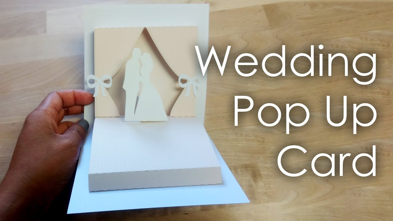 Tutorial  Template Diy Wedding Project Pop Up Card  Youtube For Pop Up Wedding Card Template Free