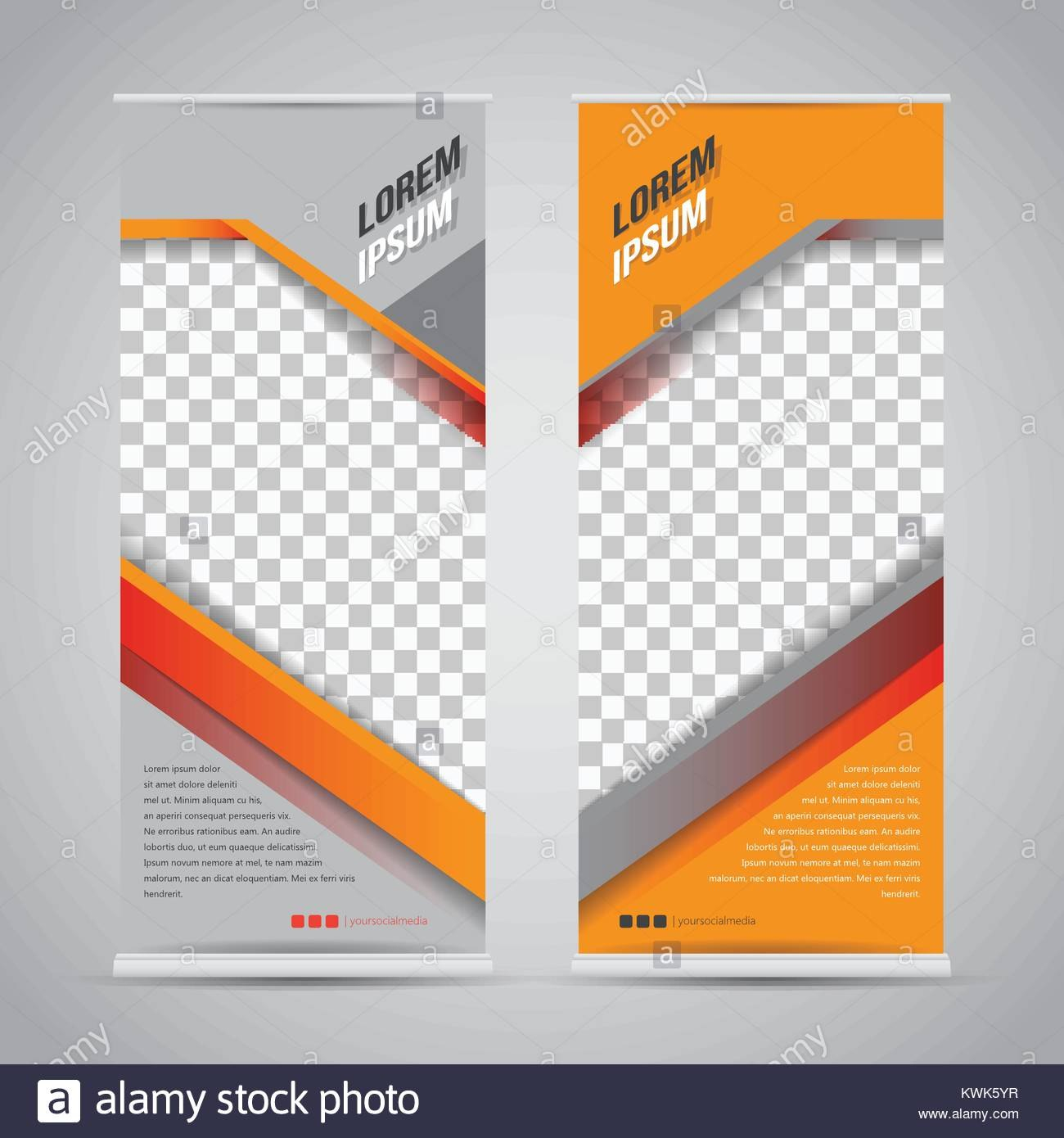 Twin Roll Up Banner Stand Design Template Vector Eps  Vektor Intended For Banner Stand Design Templates
