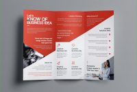 Two Sided Brochure Template Aphrodite Business Tri Fold Brochure within One Sided Brochure Template