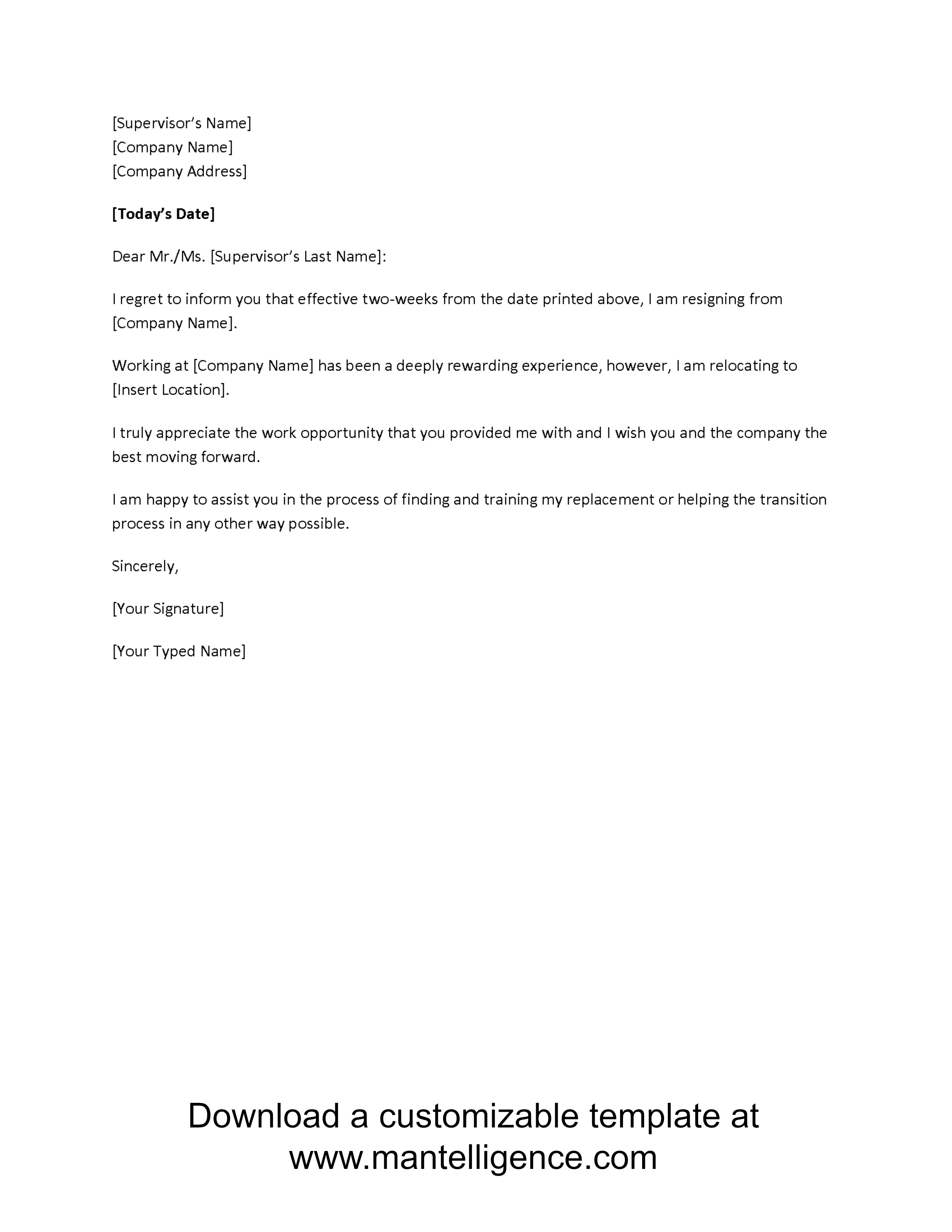 Two Week Work Schedule Template Highly Professional Weeks Notice With 2 Weeks Notice Template Word