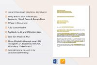 Two Weeks Notice Template In Word Google Docs Apple Pages intended for 2 Weeks Notice Template Word
