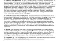 Unilateral Way Nondisclosure Agreement Nda Template  Eforms in Unilateral Non Disclosure Agreement Template
