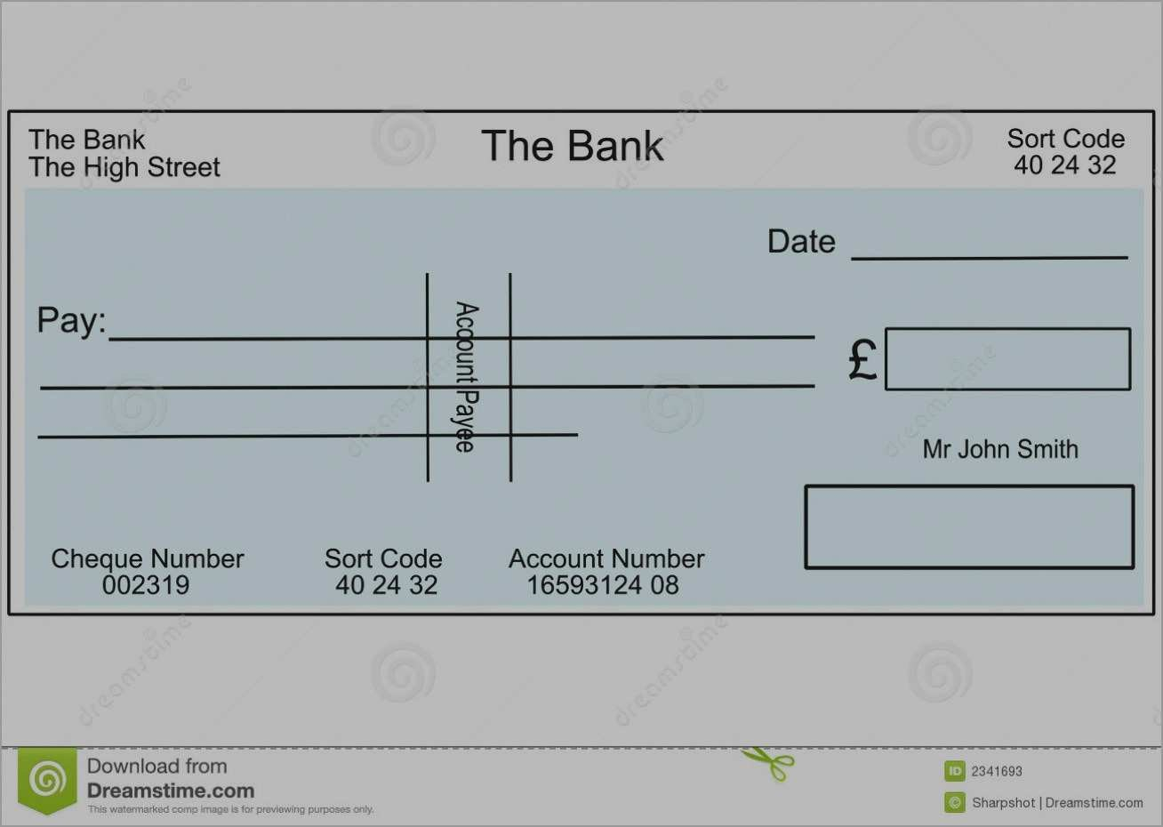 Unique Free Editable Cheque Template  Best Of Template Throughout Blank Cheque Template Uk