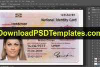 United Kingdom National Identity Card Template Uk Id Card within Template For Id Card Free Download
