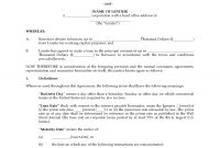 Usa Revolving Loan Agreement  Legal Forms And Business Templates intended for Commercial Loan Agreement Template
