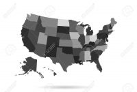 Usa States Map Isolated For Infographic Blank Usa Map Template in Blanks Usa Templates