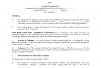 Usa Trademark Assignment Agreement  Legal Forms And Business regarding Trademark Assignment Agreement Template