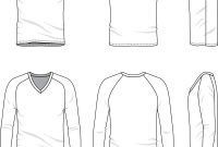 V Neck Tee Shirt  Template Vector Images for Blank V Neck T Shirt Template