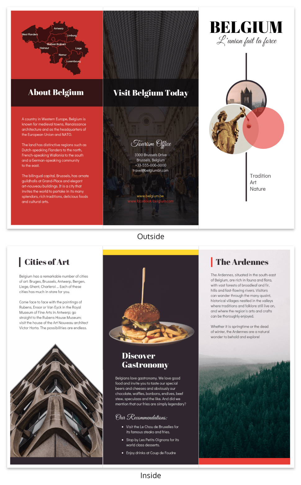 Vacation Travel Brochure Template Template  Venngage Within Country Brochure Template
