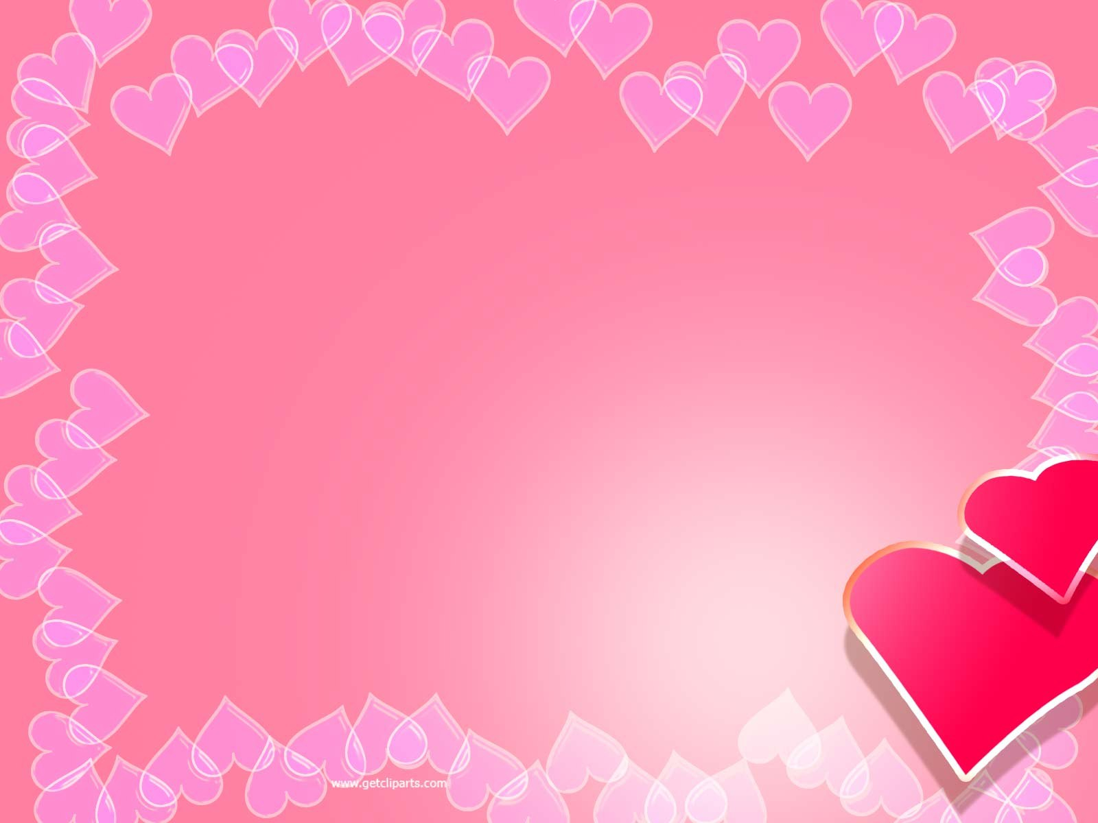 Valentine Backgrounds For Powerpoint  Border And Frame Ppt Templates Regarding Valentine Powerpoint Templates Free