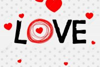 Valentine Card Template With Word Love Illustration Royalty Free within Valentine Card Template Word