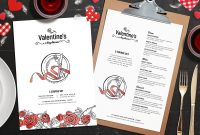 Valentine's Day Menu Template In Psd Ai  Vector  Brandpacks with Valentine Menu Templates Free