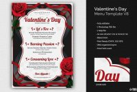 Valentine's Day Menu Template Psd Design For Photoshop with regard to Valentine Menu Templates Free