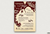 Valentine's Day Menu Template V  Design Promotional Ideas  Menu in Valentine Menu Templates Free